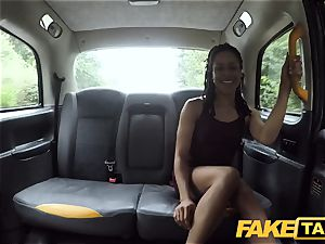 fake cab fast fucking and internal ejaculation for peachy bum