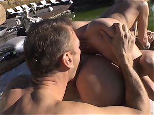Rocco Siffredi goes deep inside Cayenne Klein and her buddy