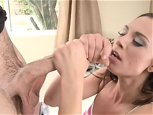 Aidra Fox spooned by a lengthy hard penis