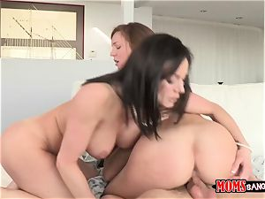 wonderful spunky mummy Kendra zeal instructs her daughter and her youthfull husband