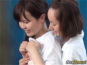 asian g/g finger-tickled