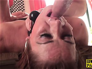 ginger-haired brit gimp assfucked and strapped