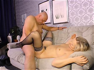 xxx OMAS - messy mature nail with new-comer German blond