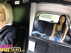 girl faux taxi Actress munches and thumbs ash-blonde