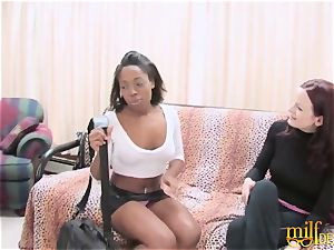 Bored mother nailed by sapphic ebony