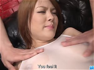 Subtitles - asian cutie Rei gets man meat in her lovely