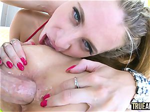 TRUE anal Anya and Jillian ball-gagged and anally gaped