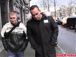 cocksucking amsterdam prostitute spunked on