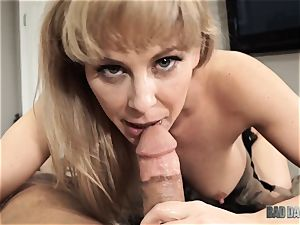 Cherie Deville pummeled pov fashion testicles deep