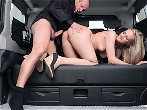 banged IN TRAFFIC - super-fucking-hot backseat sex with Czech towheaded