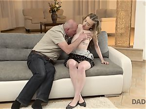 DADDY4K. hump of father and young girl completes with unexpected internal ejaculation
