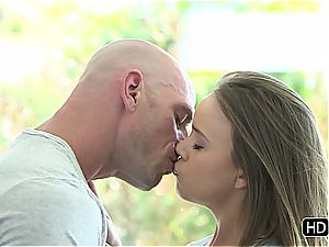 handsome time with inborn huge-titted Alexis Adams