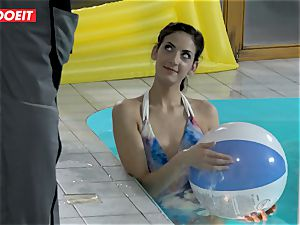 LETSDOEIT - sonnie romps StepMom And step-sister At The Pool