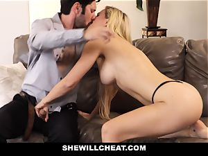 SheWillCheat cheating wife Gags on man rod