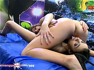 Paola Mike and Khadisha Latina insane jizz beotches - GGG