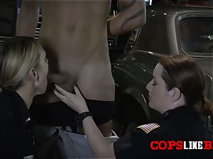 Shop proprietor is subdued to conform with horny cougar cops orders