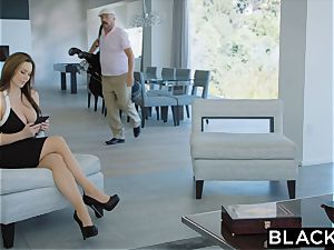 BLACKED super-hot Trophy wifey fucks bbc in husband's couch