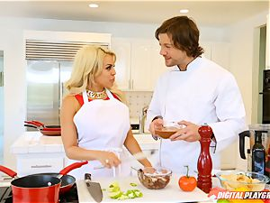 Luna starlet and Aria Alexander cooking up and orgasm with Jean Val Jean