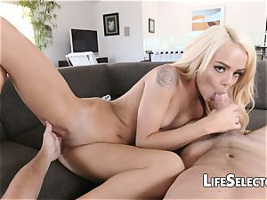 Elsa Jean - ultra-cute light-haired with cock-squeezing cooch enjoys to boink