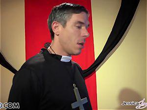 kinky nuns Jessica Jaymes and Nikki Benz pleasing gods desires