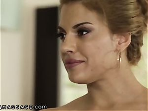NuruMassage douche and Quickie with Mercedes Carrera