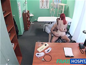 FakeHospital nice ginger-haired rides medic for cash