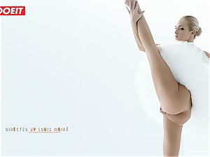 Czech ballerina opens up before strenuous fuck-fest with paramour