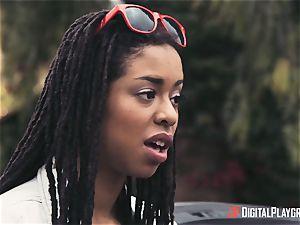 Outdoor interracial vagina enjoy with Kira Noir and Jessa Rhodes